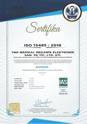 ISO 13485 Sertifikası